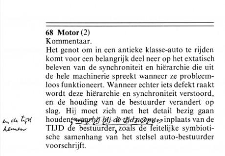 68 Motor - Dick Raaijmakers | Tijdschrift Terras